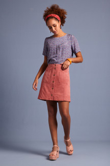 Garbo Mini Skirt Suede