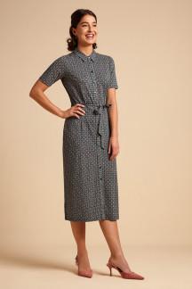 Rosie Slimfit Dress Bourbon