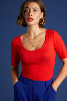 Carice Top Rib Tencel
