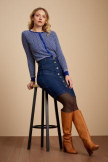 Angie Pocket Skirt Golden Denim