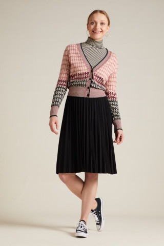 Border Plisse Skirt Uni Plisoley