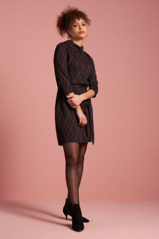 Dita Dress Argyle