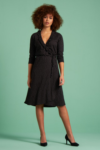 Abby Wrap Dress Little Dots
