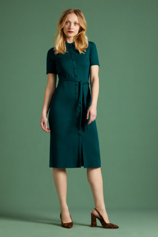 Rosie Slim Fit Dress Milano Crepe