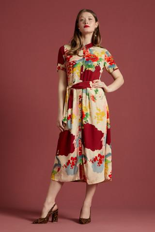 Rosie Midi Dress Sesame