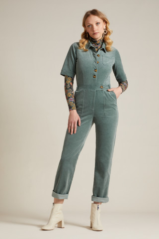 Garbo Button Jumpsuit Corduroy