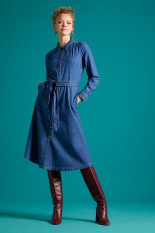Olive Dress Chambray