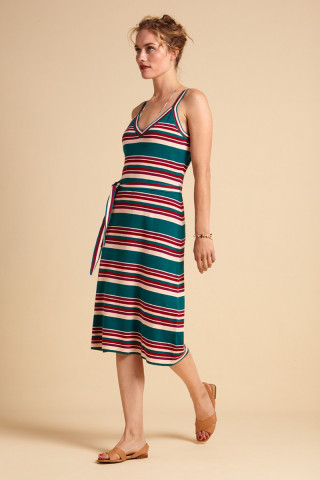 Isa Cami Dress Playa Stripe