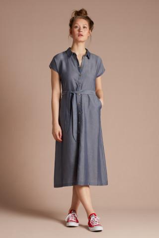 Olive Dress Tencel Chambray