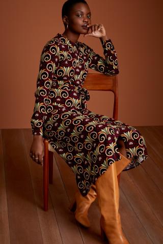 Olive Midi Dress Hamlet