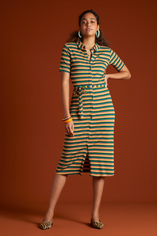 Rose Slim Fit Dress Daydream Stripe