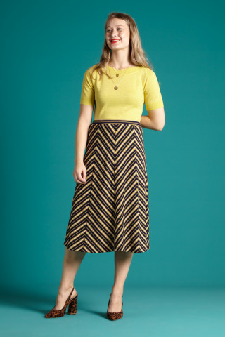 Juno Panel Skirt Gonzalez Stripe