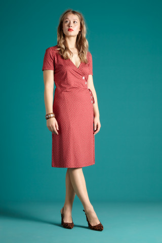 Zuma Wrap Dress Little Dots