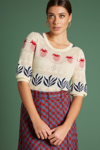Agnes Bellsleeve Top Pineapple