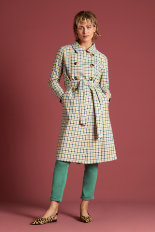 Edith Coat Maverick Check