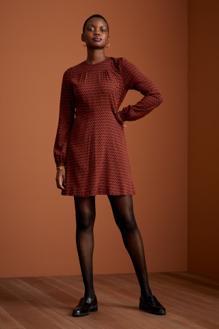 Polly Dress Earl Grey