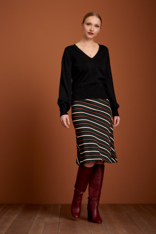 Knit Skirt Cabana Stripe