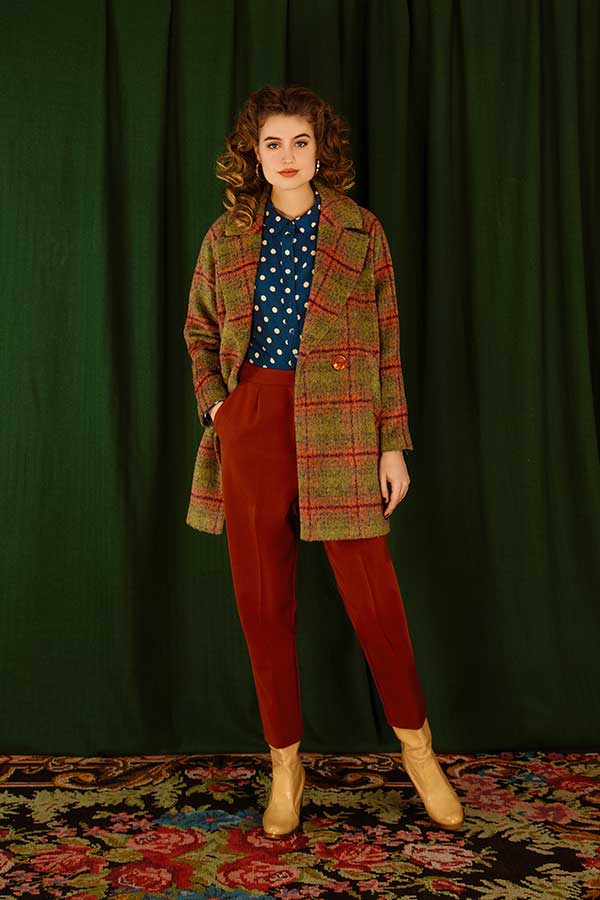 Shop the Look Rosie Blouse Polkadot Autumn Blue AW19